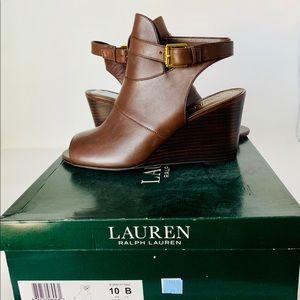Lauren Ralph Lauren Abelle Brown Wedge heels